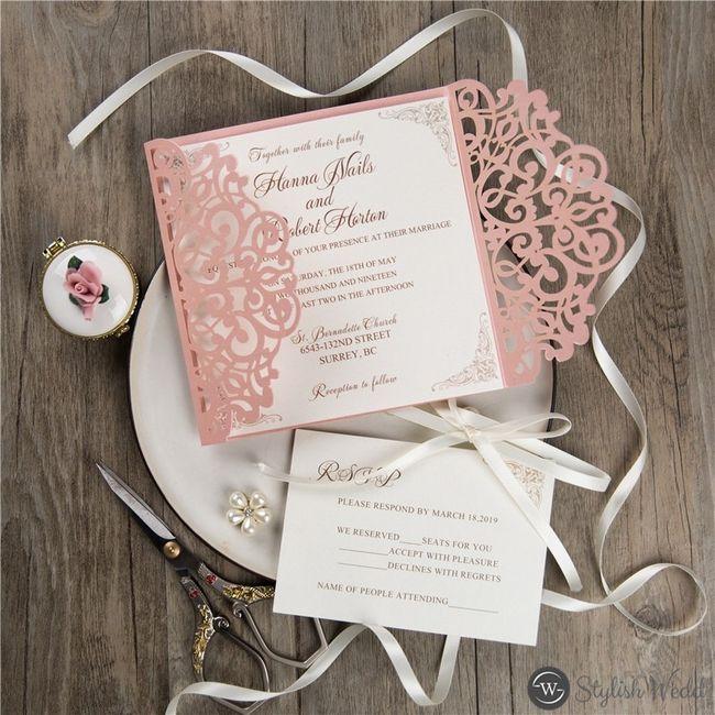 Outubro é Rosa: Convites de Casamento 🎗️ 5