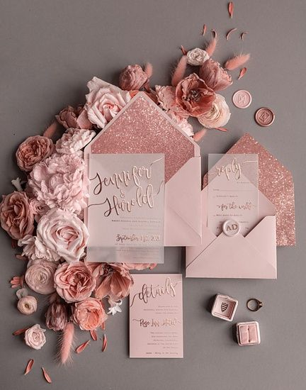 Outubro é Rosa: Convites de Casamento 🎗️ 7