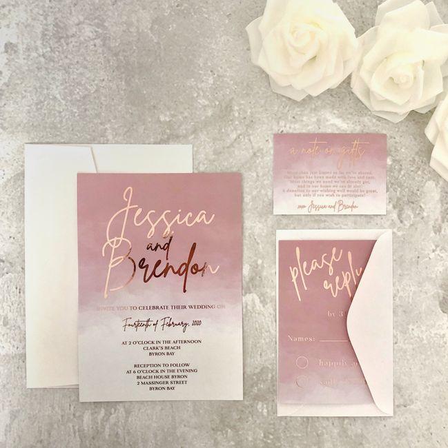 Outubro é Rosa: Convites de Casamento 🎗️ 9