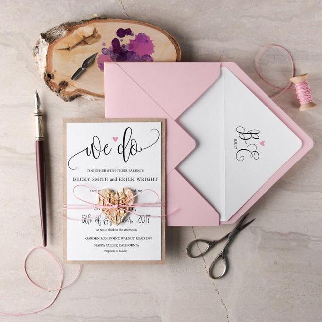 Outubro é Rosa: Convites de Casamento 🎗️ 11