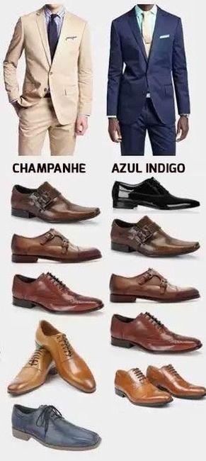 que sapato combina com azul