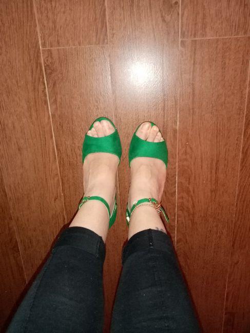 os meus sapatos de noiva 💚 1