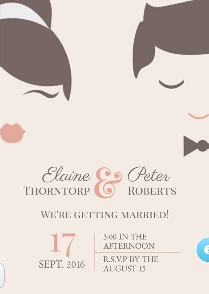 Os nossos convites 💑 - 1