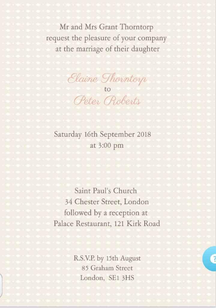 Os nossos convites 💑 - 2