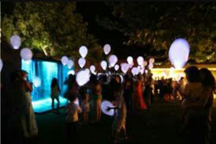 Balões com led - 3
