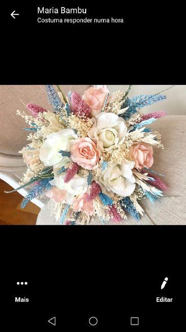 Coroa de flores e bouquet artificial - 1