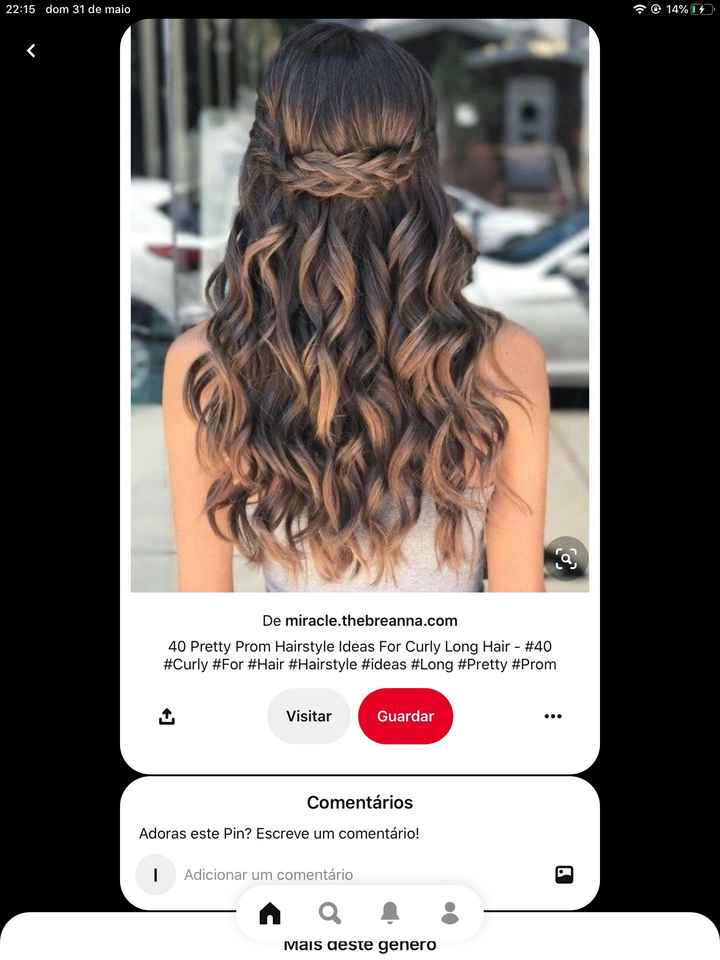 Meninas como pensam fazer o penteado para o vosso dia? Que tal partilharem fotos?  :) - 4