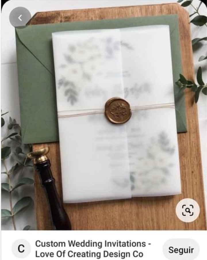 Convites com papel vegetal - 1