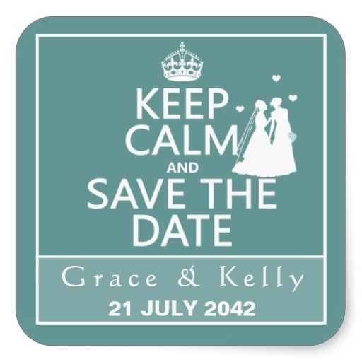 Save the date keep calm - 1