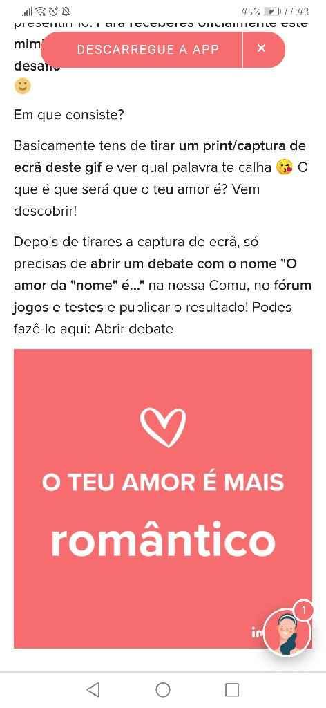 o meu amor é Romântico 🥰❤️ - 1