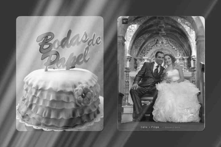 1º aniversário de casamento - 1