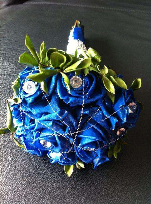 Decoração azul... bouquet também?  - 1