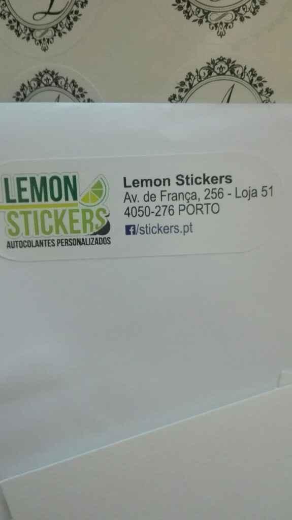 Lemon Stickers - o monograma - 2
