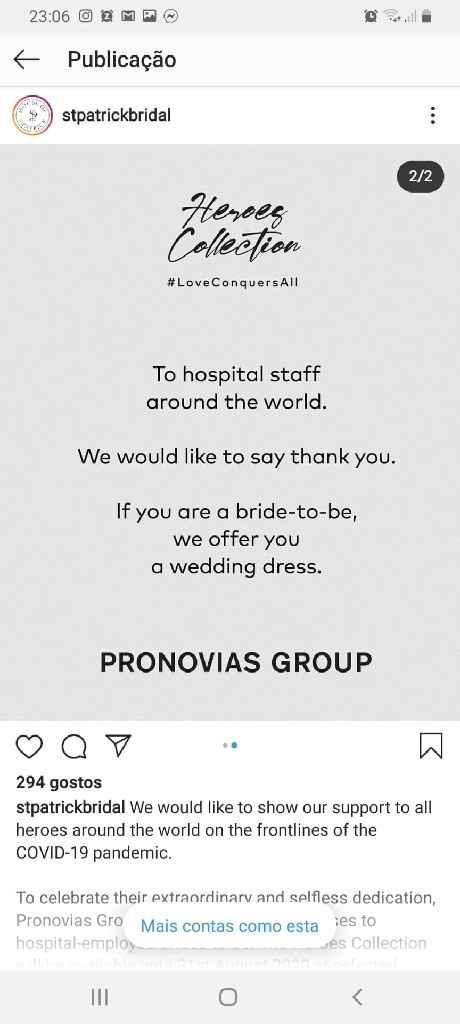 Pronovias - nurses covid brides 💪😉😍 - 2