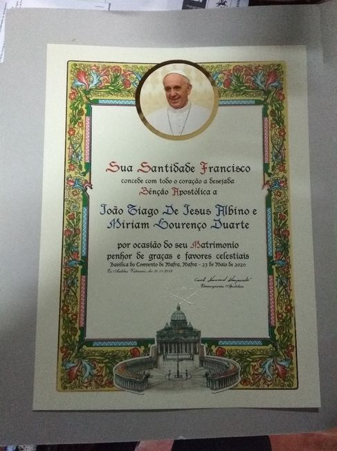 Bênção papal 1