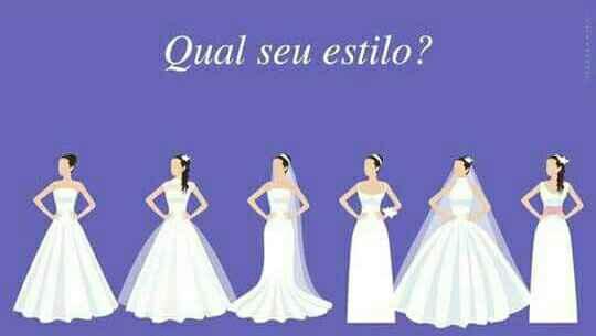 Qual é o teu estilo de noiva? - teste - 1