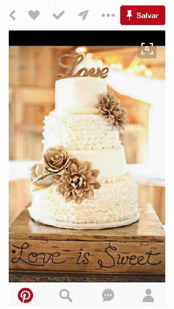 Como será o bolo de casamento? - 1