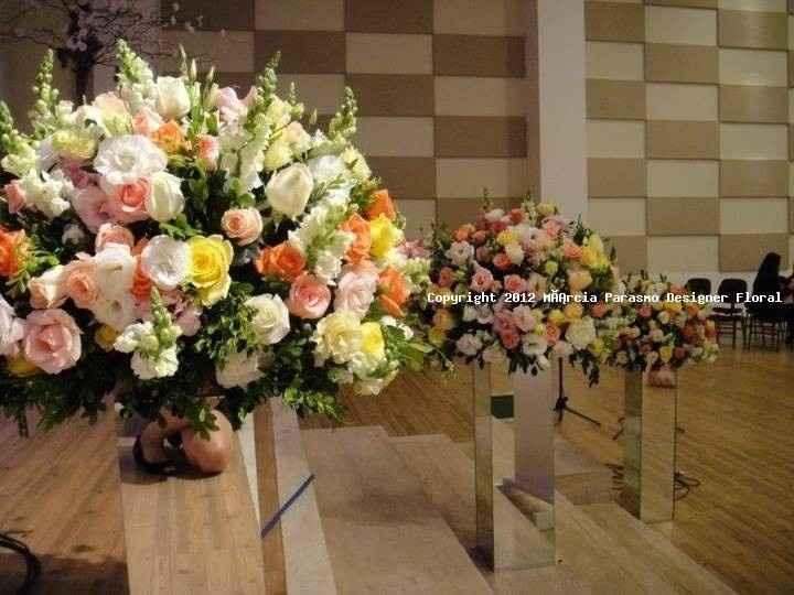 Arranjos florais igreja