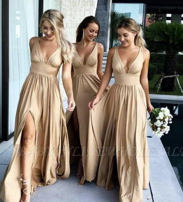 O🌈 Arco-íris invade a Comunidade com Inspirações em Dourado para Vestido - Damas de Honor 5