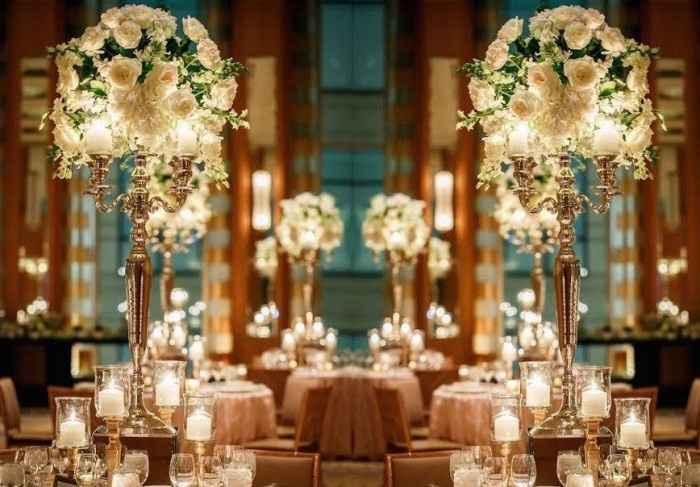 Centros de mesa com velas :)