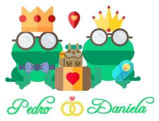 logotipo wedding pedro & daniela