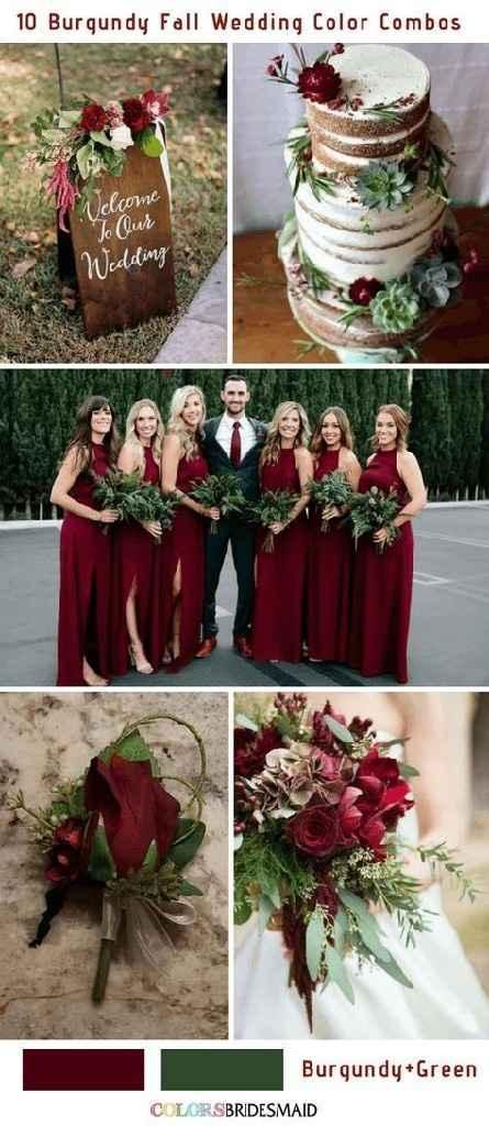 Cor para o casamento vermelho e verde, que acham? - 2