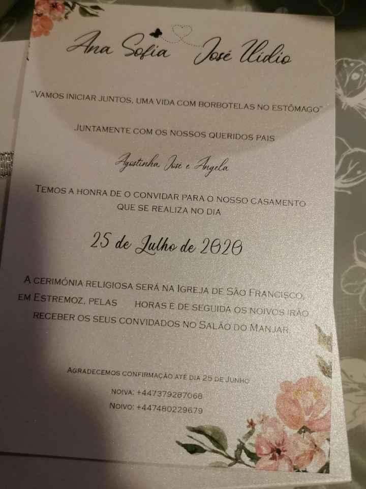 Os nossos convites ! 😍 - 1