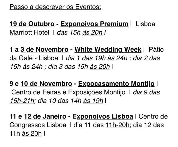 Exponoivos e White Wedding week! - 1