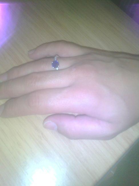 O meu anel de noivado 💍😍