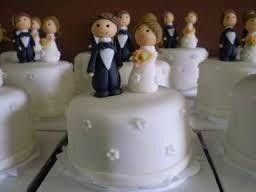 Mini bolos de noiva - 4