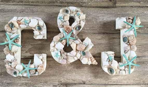 Inspirações com conchas e estrelas do mar