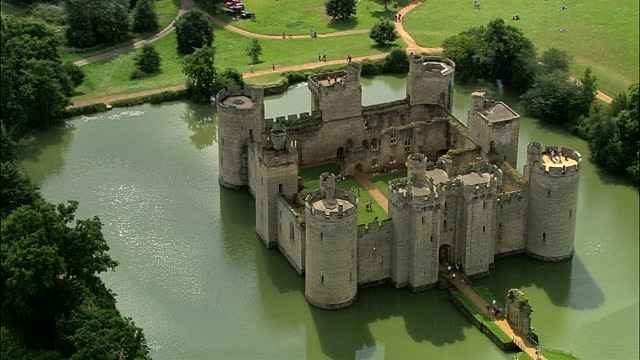 The Bodiam Castle in East Sussex