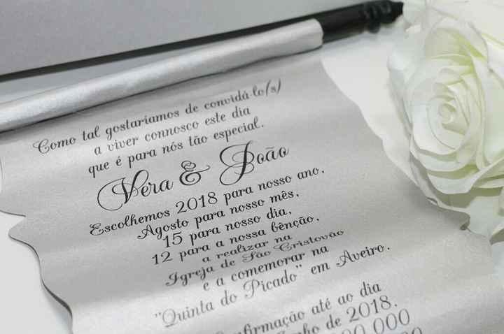 Lembranças, convites e ementas - 2
