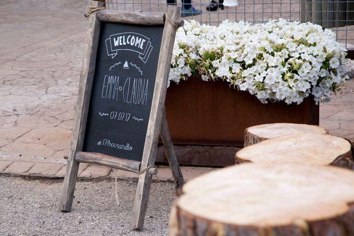 Placa de boas vindas: quadro de ardósia ou de madeira? 1
