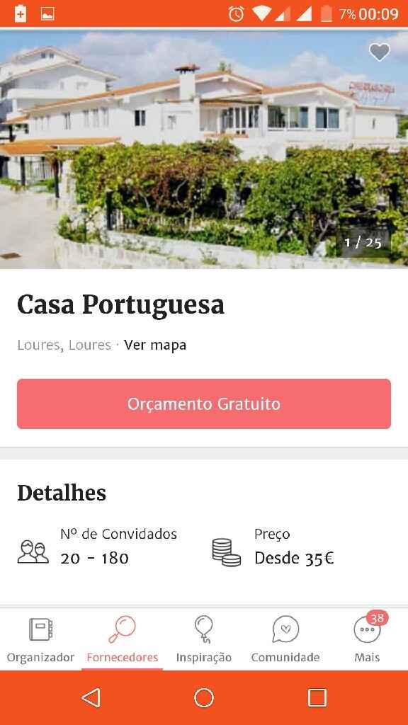 Espaços Casamentos 30€ / 40€ por pessoa?? - 4