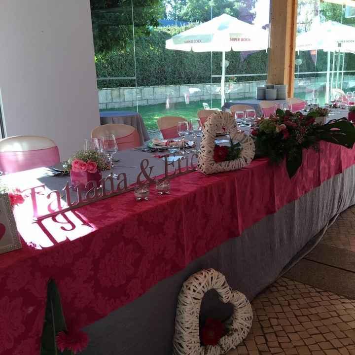 Decoração  (mesa noivos)