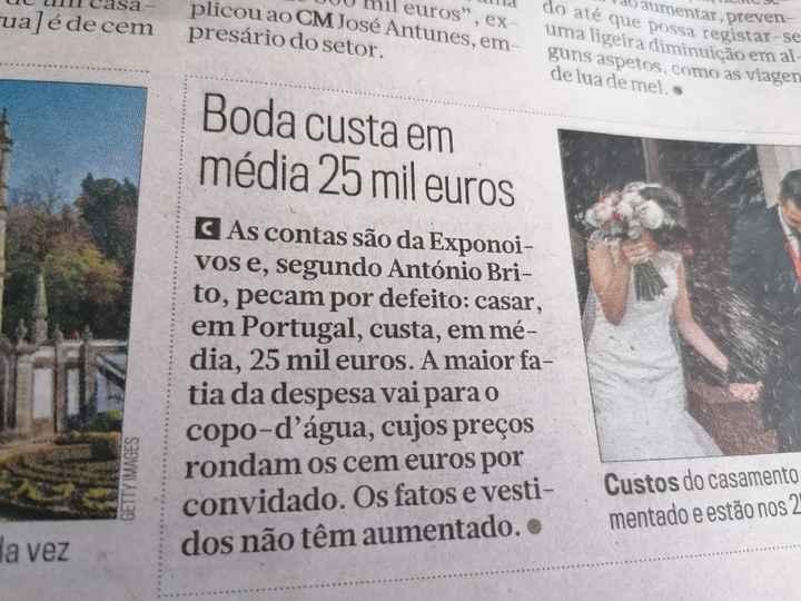 Quanto custou o vosso casamento? - 1