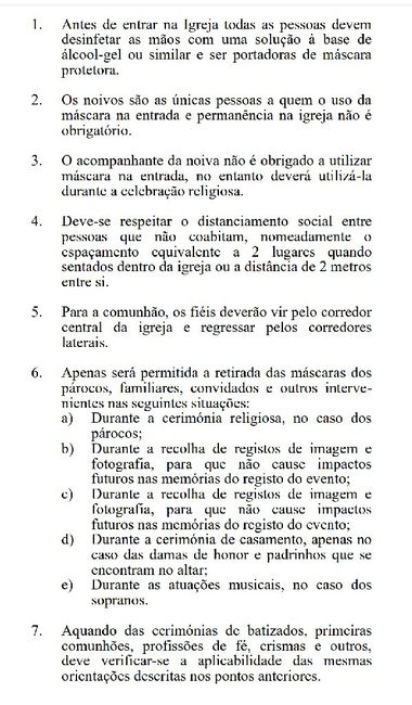 Regras/guia Casamentos Madeira - 1