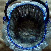 cesta saquinhos do arroz e lembranças