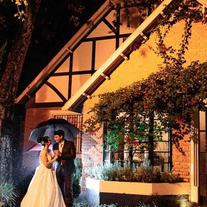 Casamentos de inverno : chapéu de chuva da noiva - 6