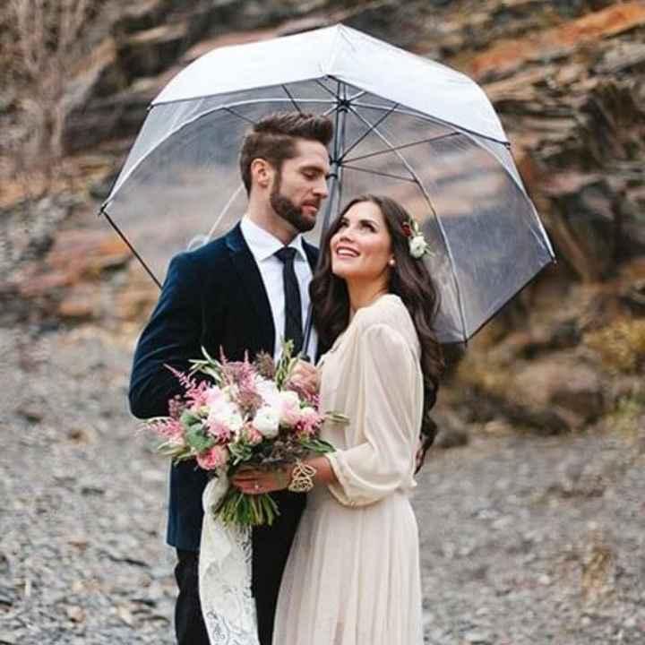 Casamentos de inverno : chapéu de chuva da noiva - 7