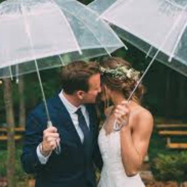 Casamentos de inverno : chapéu de chuva da noiva 5