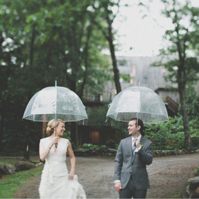 Casamentos de inverno : chapéu de chuva da noiva 6