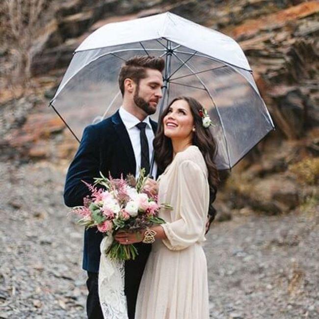 Casamentos de inverno : chapéu de chuva da noiva 8