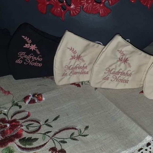 Máscaras para noivos e comitiva 2