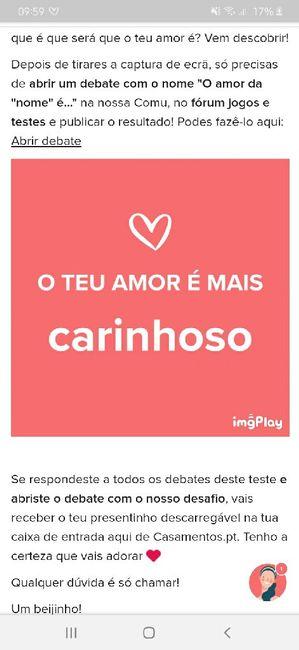 O teu amor é mais.... DESAFIO! 3