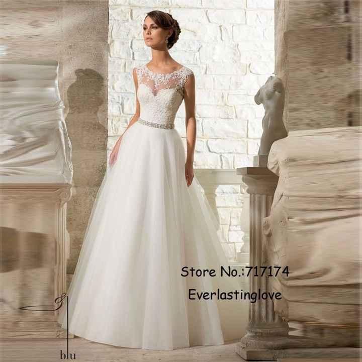 frente do vestido elegante