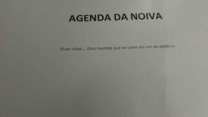 :D A minha agenda