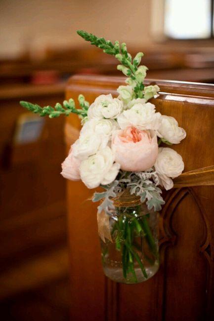 Flores para a decoração da igreja - 9