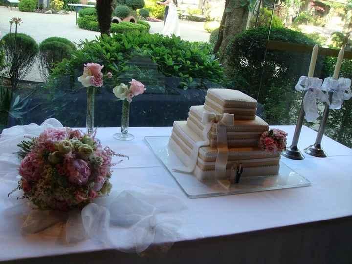 O bolo, muito bom !!